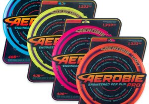 """RECORDS ARE MADE TO BE BROKEN.  THE AEROBIE PRO IS ENGINEERED TO DO IT.   If you've ever said """"Go long!"""", the Aerobie Pro was designed for you. With space-age aerodynamic engineering, you can't throw anything farther."""