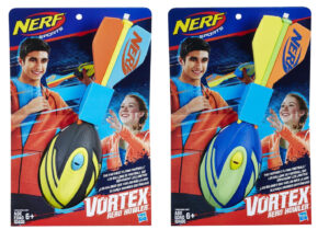 Show off the awesome power of your throwing arm with the MEGA AERO HOWLER football! The ball has a hand grip so you can target your passes better.