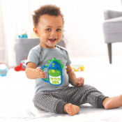 This engaging dinosaur phone keeps baby busy and happy with sweet sounds, songs and more. From the easy-grip rainbow handle to the colourful buttons, your little one will love to explore this dino friend.
