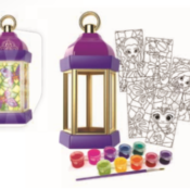 New for 2021 is the Firefly Lantern Glass Painting Kit. Children can paint beautiful designs to insert into a pretty lantern which includes an amp that gives the impression of stained-glass windows with Fireflies frocklicking!