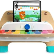 With the delicate touch of her little fingers, Baby Einstein and Hape's 'Magic Touch Piano' will let baby create thousands of different songs. Made from wood, this piano toy features magic touch technology - no buttons or keys needed.