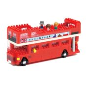 Build your own miniature version of the red London Tour Bus with an ingenious 3D puzzle from Nanoblocks. Requiring no tools other than your hands, use a system of miniature linking bricks to construct a detailed and creative 3D model.