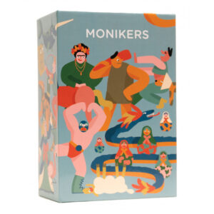 A dumb party game that respects your intelligence. Monikers is pretty simple: get your friends to guess the name on a card. Each team has 60 seconds to get through as many weird, inappropriate names as they can.