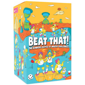 The Bonkers Battle of Wacky Challenges. Limber up and prepare to bounce, flip, stack, hop, roll, blow, balance and catapult your way to victory in the world's wackiest party game!