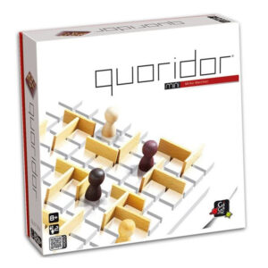 Quoridor is a must among strategy games. Its rules are amazingly simple: just make it through the labyrinths your opponent creates to get to the other side. Great for both casual or expert players.