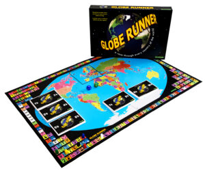 The Ultimate Geography Board Game uniquely races through every country of the world. Fun, quick and educational, featuring multiple choice questions on every country, capital, flag, etc. Different ages and abilities can play together. First around the world wins.
