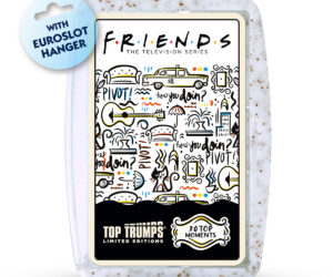 "The bestselling and popular pack of FRIENDS Top Trumps is getting a make over. Now featured in our Limited Edition ""Cappuccino"" case."