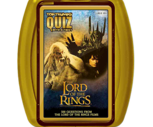 Travel back to Mordor with this brand new Lord of the Rings Top Trumps Quiz, containing 500 questions to test the hardest of die-hard fans.