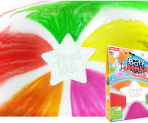 Gently float this special effect Star Baff Bomb into your water and watch it release an amazing multi coloured effect! 100% Safe, stain free & biodegradable!