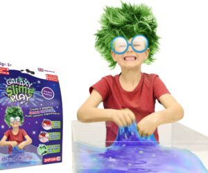 Unleash your inner Slime Scientist and create a popping, colour changing, multi-sensory experiment. Galaxy Slime Play is 100% safe, stain free & certified biodegradable.
